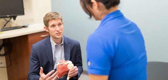 Dr. Michael Greiwe explains his new rotator cuff sparing surgery