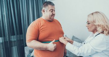 Overweight male patients having waste measured by female weight-loss surgeon