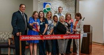 St. Elizabeth leaders cutting grand opening ribbon for Women's Health Center