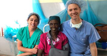 St. Elizabeth physician and nurse with Kenya patient.