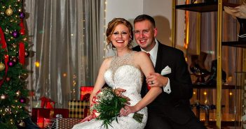 Patti and Aaron Talbert on their wedding day