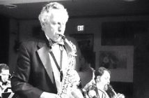 Ken Foltz playing sax