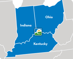 Indiana, Ohio, Kentucky